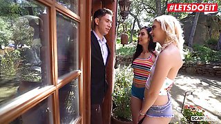 Hot Wild Threeway Scam With Hot Babe