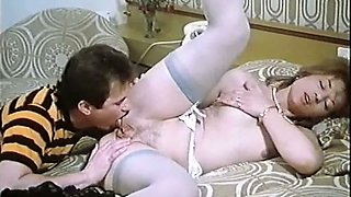 Lovely pale skin vintage blondie with small breasts