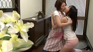Asian school girl seduces helpless house mom 3