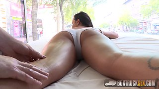 Hot Angelina Wild Enjoys 69 with the Masseur
