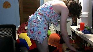femboy showing masturbating in dress slutty butt plug