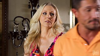 Julia Ann the busty MILF gets banged by muscled guy