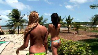 wild poolside group fucking with sluts Alina and Druuna Diva