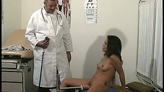 Lovely Asian bitch gets her twat banged with fucking machine