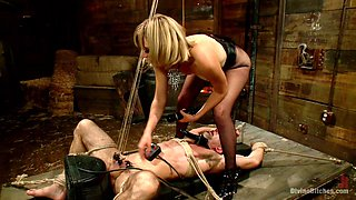 Jason Miller & Mona Wales in Bitch Boy In A Barn: Lifestyle Dominatrix Abuses And Fucks Slave Boy - DivineBitches