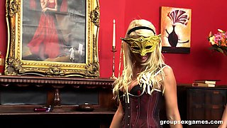 Group fuck with Gemma Massey and her friends wearing corsets