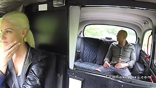 huge tits blonde bangs huge cock client in cab
