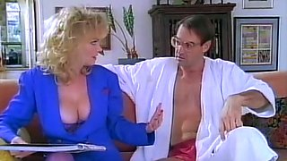 Busty and lascivious blonde milf feels horny for sex