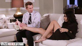 Innocent Foot Massage Turns Into Passionate Foot Sex