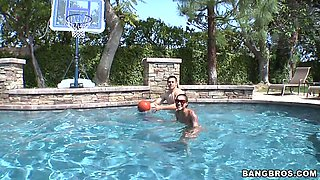 Basketball in the pool with booty girl Skin Diamond