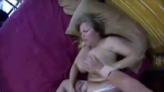 Mature milf busty mom bed sleep