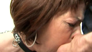 Submissive mature woman completely dominated