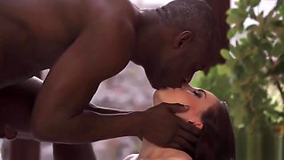 BLACK4K.Awesome interracial sex in the gym where white