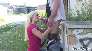 Cute German Teen Seduce to Fuck Outdoor by Stranger