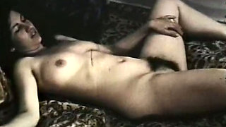 White slutty chick got her tight pussy banged hard in her bedroom