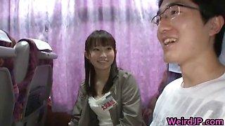 Crazy Asian girls have hot bus tour part2