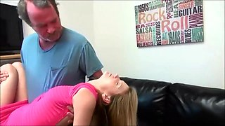 girl punished by her stepdad