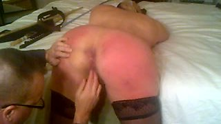 This MILF's curvaceous bottom is asking to be punished