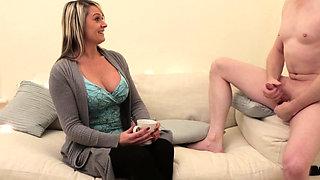 British CFNM milf cocksucking naked guy