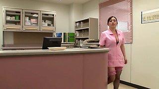 Horny Japanese chick in Best Nurse, HD JAV video
