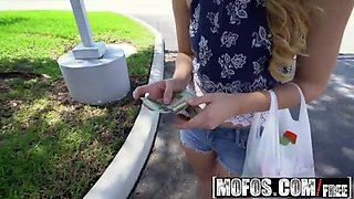 mofos - public pick ups - innocent brunette gags on cock sta