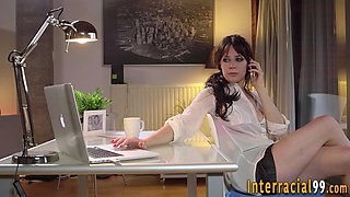 Maid anally plowed by bbc