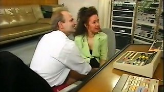 Sizzling hot and exquisite German babe undressed and fucked in the office