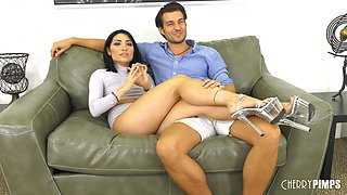 Gorgeous Rina Ellis fucked hard by a handsome lover