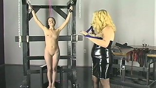 Horny dominatrix explains her slave that she is here to be punished