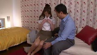 Exotic Japanese model Saki Hatsuki in Crazy Blowjob, Secretary JAV movie