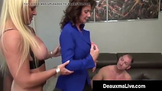 Busty mothers deauxma &amp alexis golden interracial foursome