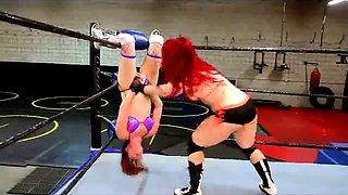 Redhead Wrestling Match
