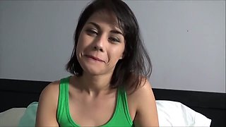 Daughter with a hairy pussy asks her father to fuck her