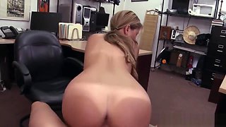 Shop Boss Gives Bucks To Fuck Beautiful Teen Camel-Toe Pussy