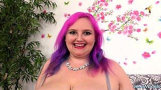 Chubby Sara Star's Dildo Machine Orgasm