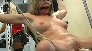Milf's bondage gym