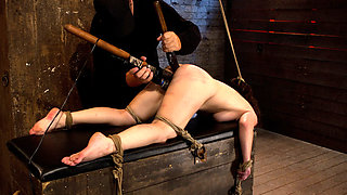 Girl Next Door Bound Ass Up. Double Penetratedskull Fucked & Caned, Vibrated 2 Multiple Orgasms  - HogTied