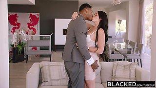 BLACKED Brunette loves rough bbc
