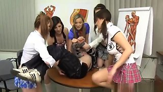 CFNM teens punish their school teacher