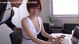 Exotic Japanese slut Yuria Satomi in Incredible Secretary JAV movie