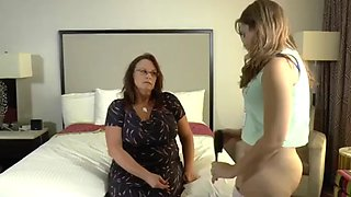 Mother spanking her daughter