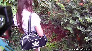 reality pov fuck by the bus stop with tight euro teen