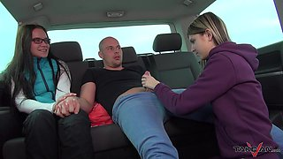 Barely legal Gina gets her mouth filled with cum in strangers car