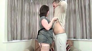 Teen stud teasing mature lusty snatch