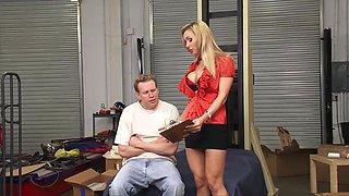 Incredible pornstar Tanya Tate in crazy office, milfs adult video