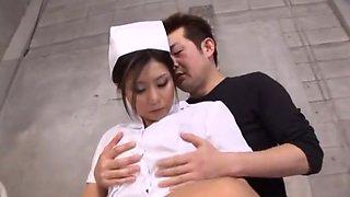 Amazing Japanese girl Aya Hirai in Hottest Nurse, Cumshot JAV movie