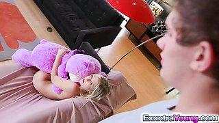 LOL virgin teen Natalia Queen caught fucking teddybear!