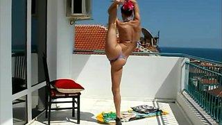 Sexy skinny flexible Bikini Contortion