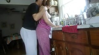 I fuck my pregnant wife in the kitchen