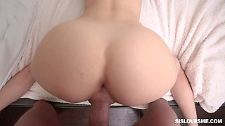 Down to fuck step sister Haley Reed is fucked in the car and on the bed
